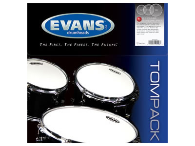 evans standard g1 clear tom batter drum head package etp g1clr s vintage drum center. Black Bedroom Furniture Sets. Home Design Ideas