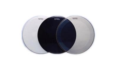 aquarian fr22bk full force black 22 front resonant bass drum head with free port hole vintage. Black Bedroom Furniture Sets. Home Design Ideas