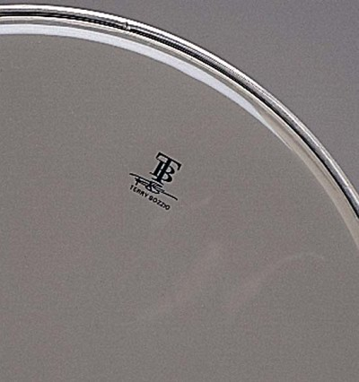 attack 10 terry bozzio signature 1ply medium clear drum head vintage drum center. Black Bedroom Furniture Sets. Home Design Ideas
