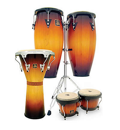 latin percussion aspire 11 and 12 wood conga drums with double stand ma lpa647 vintage. Black Bedroom Furniture Sets. Home Design Ideas