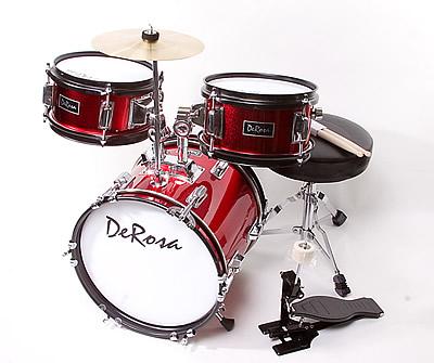 derosa bridgecraft 3 piece kids drums junior children 39 s kids drum set for 3 5 yrs old 6. Black Bedroom Furniture Sets. Home Design Ideas