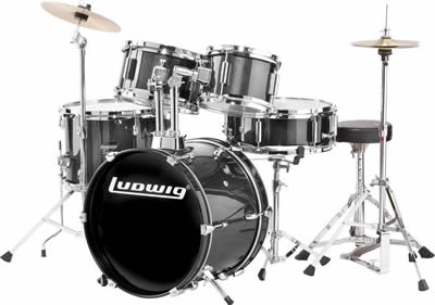 Ludwig For 3 8 Yrs Toddler Toymini Drum Set 3 Colors