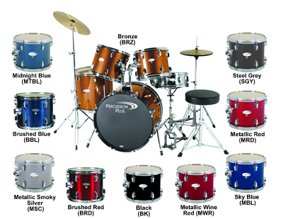 d1f1ee189af0 Percussion Plus Mid-Sized Drum Set with 20