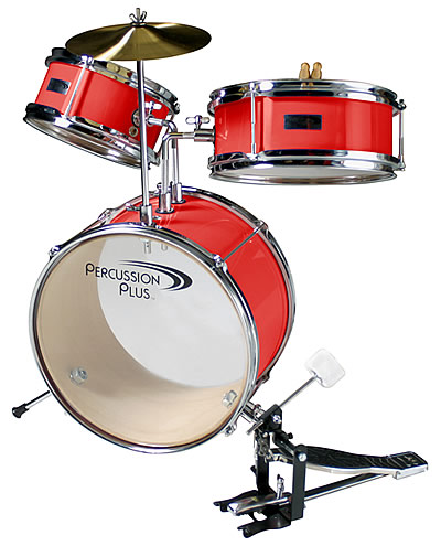 Percussion Plus For 3 6 Yrs Toddler Toy Mini Drum Set Red