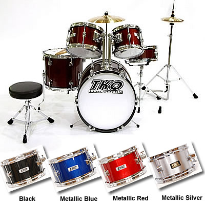 Tko Toddler 5 Piece Toymini Drum Set For 3 8 Yrs 7 Colors
