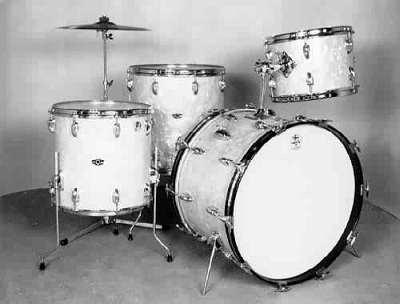 Slingerland 4 Piece Drum Set White Marine Pearl W 18