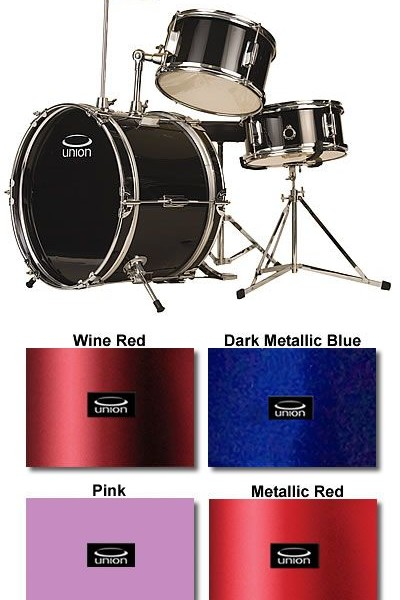 Union Kids Drums 3 Pc Extra Height Junior Children S Kids Small