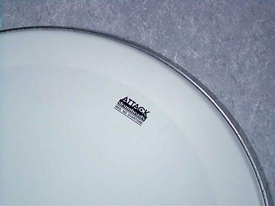 attack 14 1ply no overtone coated drum head vintage drum center. Black Bedroom Furniture Sets. Home Design Ideas