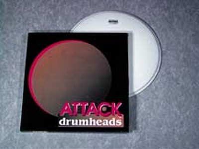 attack 22 1ply medium coated drum head vintage drum center. Black Bedroom Furniture Sets. Home Design Ideas