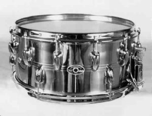 """SLINGERLAND:  slb004s  6½x14. early 80's, """"Two-to-One"""" model, """"TDR"""" strainer, 12 lugs-top/6 lugs-bottom."""