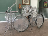vintage Ludwig Vistalite drum set