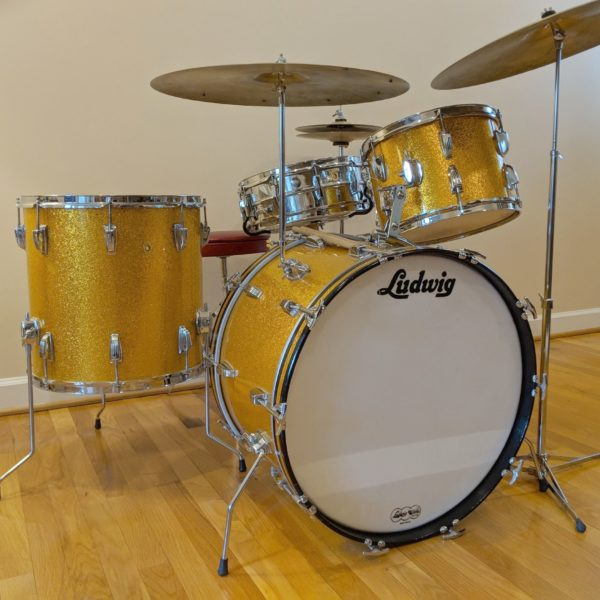 Vintage Ludwig Classic 4 Pc Drum Set W Cymbals Hardware