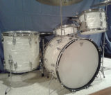 Ludwig Vintage 4 pc Classic white marine pearl drum set_opt